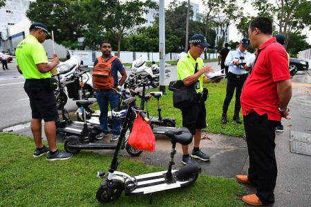 More than 600 people caught riding PMDs on roads last year