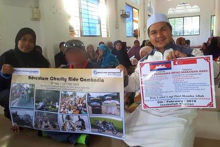 Wanted motorcyclist was in Cambodia on charity ride