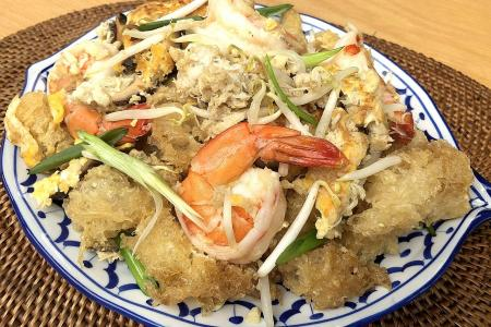 Thai-style fried fish maw