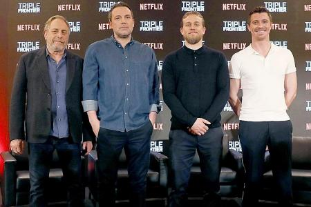 Ben Affleck on who the alpha male was on the set of Triple Frontier