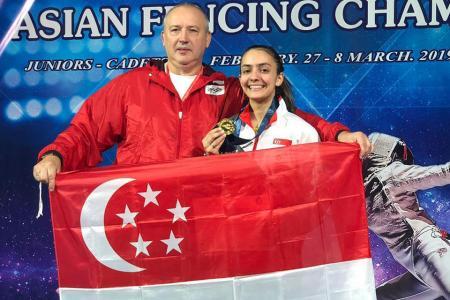 Amita is world's top junior fencer