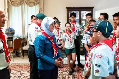 President Halimah launches Scout Job Week