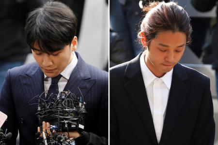 Cops question K-pop stars in sex scandals