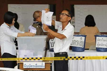 Thai election results delayed, anti-junta party claims win