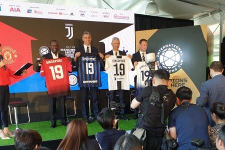 Man United v Inter, Juve v Spurs in Singapore in July