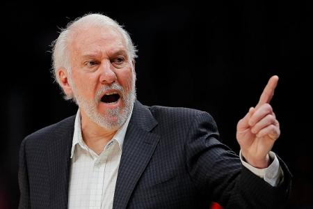 Coach Gregg Popovich tossed out as Nuggets trounce his Spurs