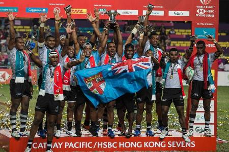 Fiji close in on World Rugby 7s title after fifth straight win in HK