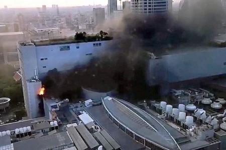 At least three dead in Bangkok shopping mall blaze