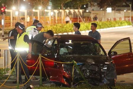 Car mows down three women at MBFC during evening peak hour