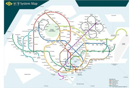 Homesick architect redesigns MRT map