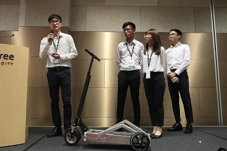 Engineering undergrads invent pedal-powered scooter