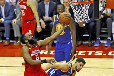 James Harden's 38 points help Houston Rockets level series