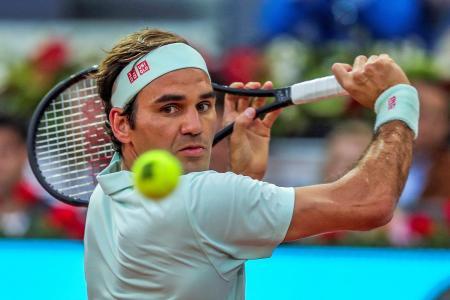 Roger Federer glad to be back on clay