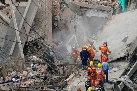 Five killed in Shanghai building collapse