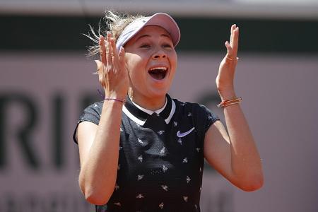 Amanda Anisimova, 17, dethrones holder Simona Halep