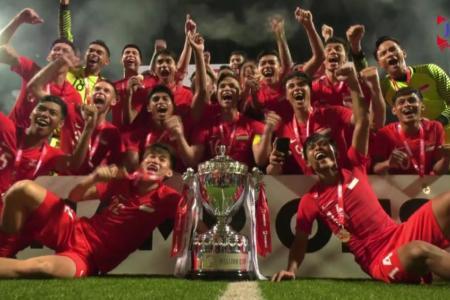 Fandi's fledglings lift Merlion Cup, thanks to Ikhsan's strike