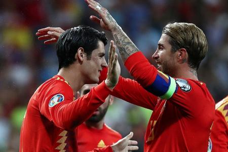 Spain captain Sergio Ramos scores one penalty, gives up another