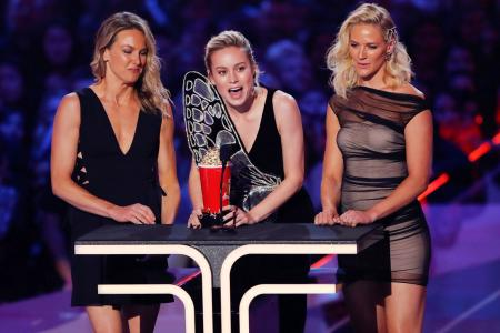 Avengers dominates MTV awards as Brie Larson honours stunt doubles