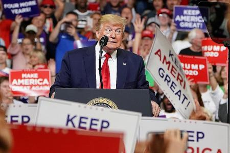 Trump launches re-election campaign, presents himself as victim