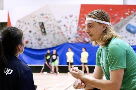 Swedish floorball star: Floorballers in Singapore need to build belief