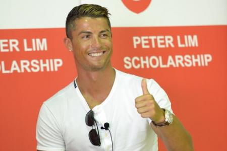 Ronaldo to make school appearance in Singapore this week