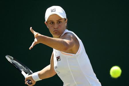 Sassy world No. 1 Ashleigh Barty in a hurry at Wimbledon