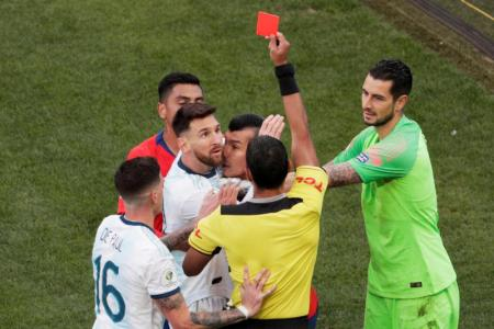Messi slams 'Brazil fix' after red card