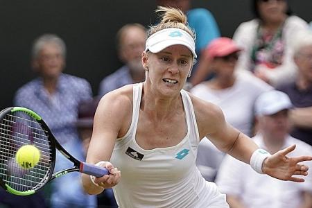 Wedding belle Alison Riske stuns party belle Ashleigh Barty