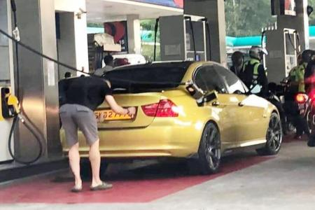 Singaporean driver fined for switching license plates