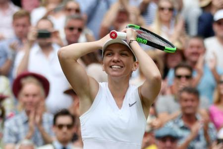 Halep sinks Serena to win Wimbledon title
