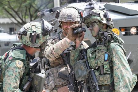 In a first, Singapore and US soldiers defuse IEDs in exercise