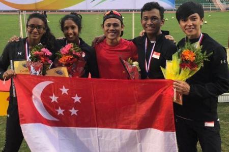 Singapore's mixed relay quartet set national record at Vietnam Open