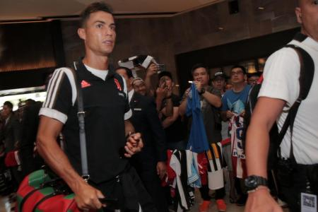 Fans thrilled to catch glimpse of Ronaldo and Co after long wait