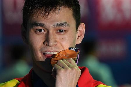 Sun Yang bags fourth 400m free crown at world champs