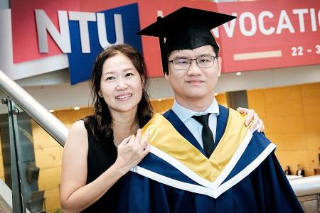 NTU student overcomes two brain haemorrhages to graduate