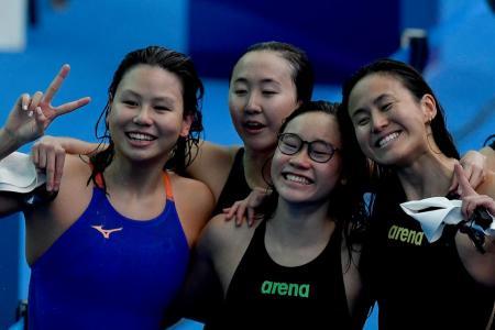 Singapore's 4x200m free quartet smash 10-year-old record