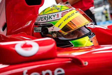 Michael Schumacher's Ferrari a perfect fit for son Mick