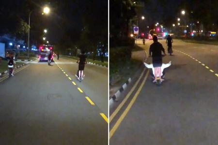 Video of errant e-scooter riders in Woodlands goes viral