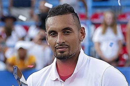 Nick Kyrgios fights off spasms and Daniil Medvedev to win Citi Open