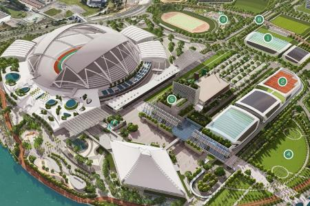 Football hub, tennis centre and velodrome at Kallang Alive