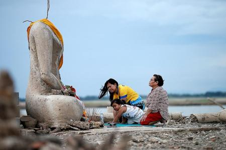 Lost temple resurfaces with drought in Thailand