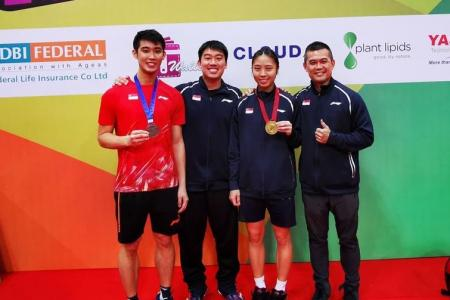 Singapore shuttlers shine at Hyderabad Open