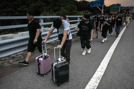 HK airport cancels  flights amid protest