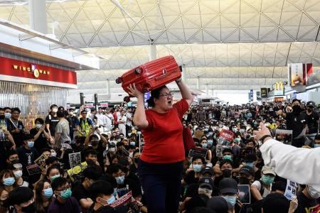 Check-in operations suspended at HK airport
