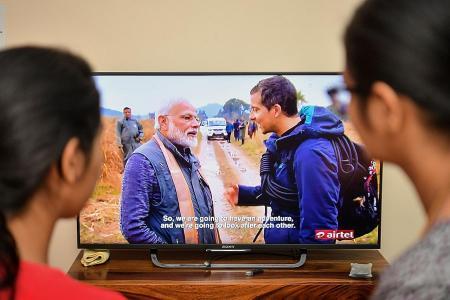 Indian PM Modi appears on survival show Man Vs Wild