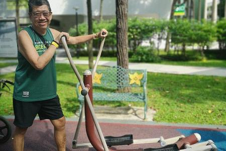 Stroke victim motivated by The Straits Times' Fun Run
