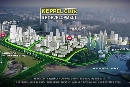 9,000 housing units, including HDB, to be built on Keppel Club site