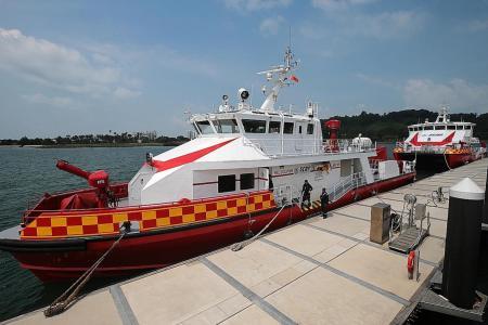 SCDF unveils new firefighting vessels