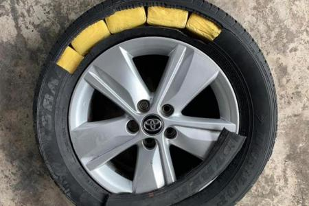 ICA officers find 1,127 packs of contraband cigarettes in tyres
