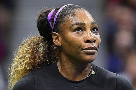 Serena Williams puts US Open rivals on notice with Sharapova stroll